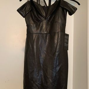 Guess black off the shoulders dress